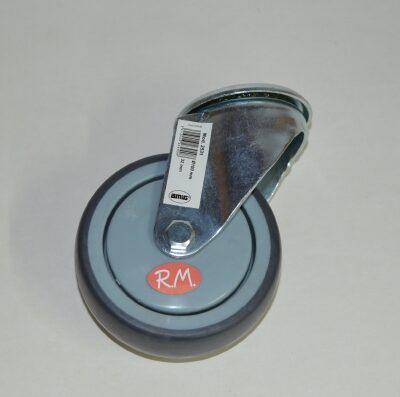 Rueda de goma gris Ø 100 mm 75kg 1 agujero