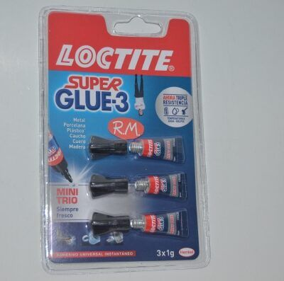 Super Glue 3 gr Original Loctite mini trío