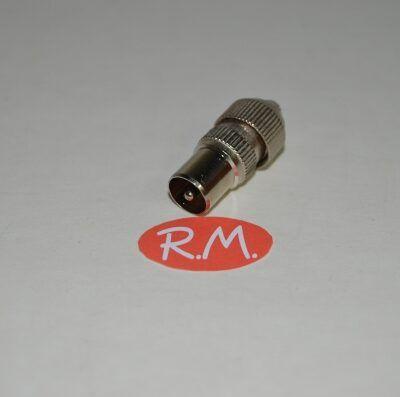Conector de antena coaxial recto macho 9,5 mm