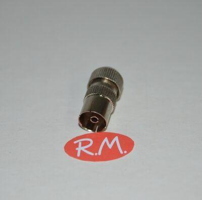 Conector de antena coaxial recto hembra 9,5 mm