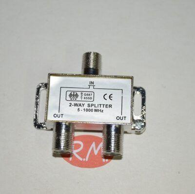 Repartidor 2 salidas TV con conector F