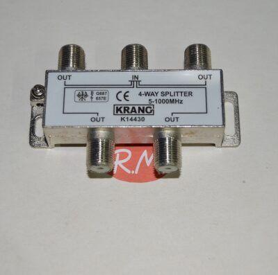 Repartidor 4 salidas TV con conector F
