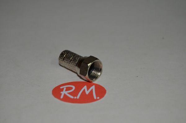 Conector F para cable coaxial RG6