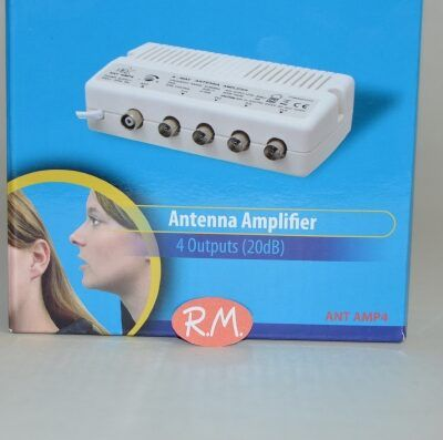 Amplificador interior de antena de televisión 4 salidas