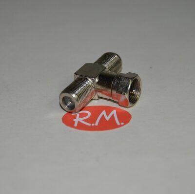 Conector te F para cable coaxial RG6