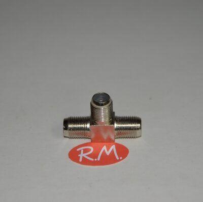 Conector triple F hembra para cable coaxial RG6