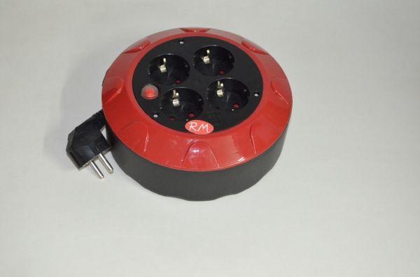 Enrollacables eléctrico 5 metros 4 tomas TTL 10/16A 3x1mm