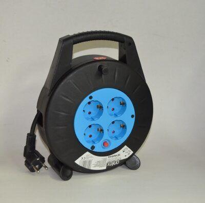 Enrollacables eléctrico 10 metros 4 tomas TTL 16A 3x1.5mm