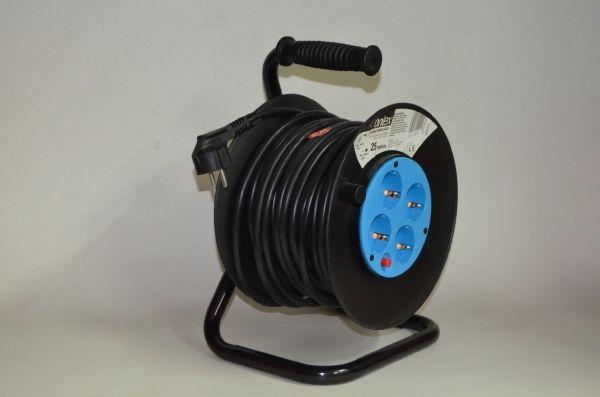 Enrollacables eléctrico 25 metros 4 tomas TTL 16A 3x1.5mm