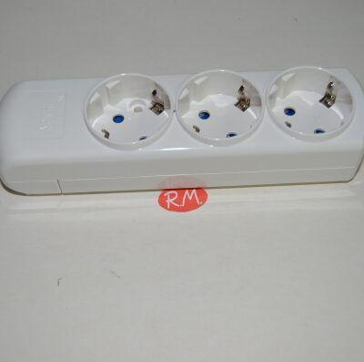 Base 3 tomas TTL blanca sin cable Solera 8003