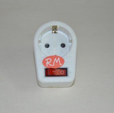 Base adaptador schuko con interruptor