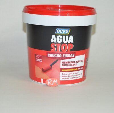 Ceys aguastop caucho acrílico rojo 1kg 903309