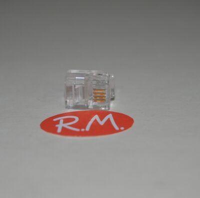 Conector teléfono 4 vías 4 mm RJ11
