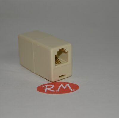 Prolongador cable teléfono 4 vías RJ11 hembra hembra