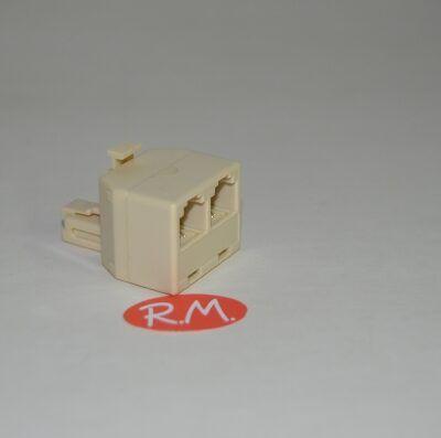 Distribuidor modular salida doble telefónico RJ11