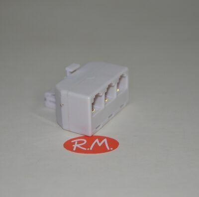Distribuidor modular salida triple telefónico RJ11
