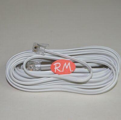 Alargo 2.5 metros cable teléfono 4 vías blanco