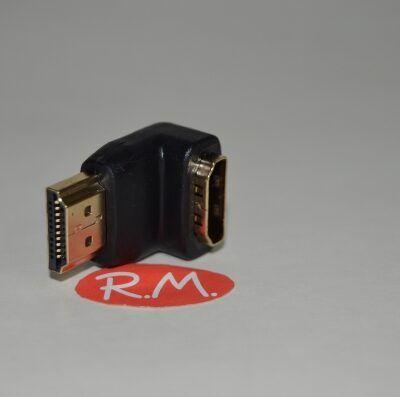 Adaptador HDMI macho hembra 90°