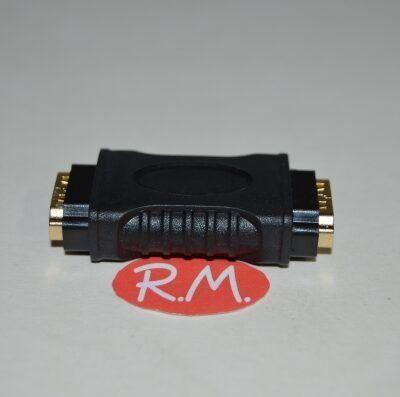 Acoplador HDMI hembra hembra 180°