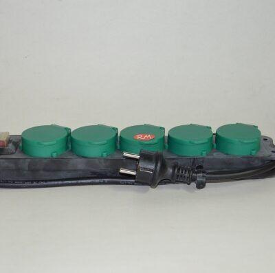 Base 5 tomas TTL estanca IP44 con interruptor y cable
