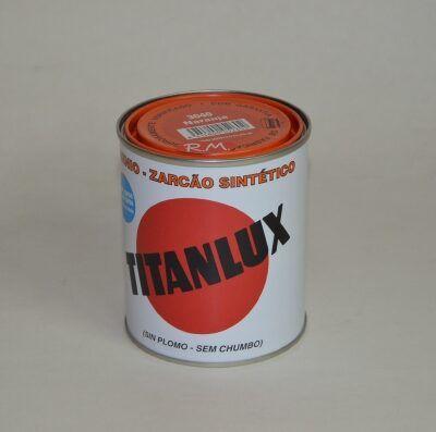 Bote 375ml minio sintético naranja Titanlux 3040