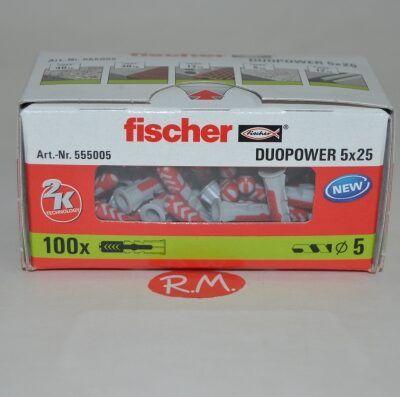 Fischer caja 100 tacos duopower 5 x 25