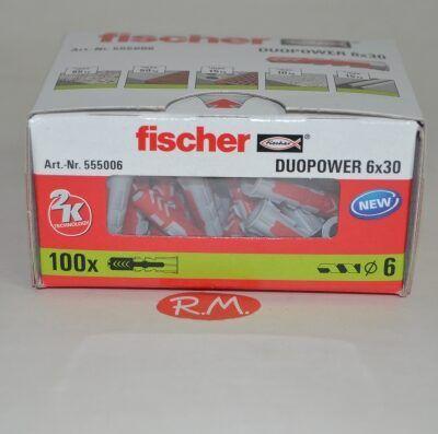Fischer caja 100 tacos duopower 6 x 30