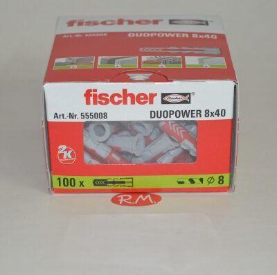 Fischer caja 100 tacos duopower 8 x 40
