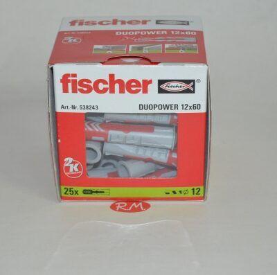 Fischer caja 25 tacos duopower 12 x 60