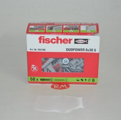 Fischer caja 100 tacos duopower 6 x 30 + tirafondo