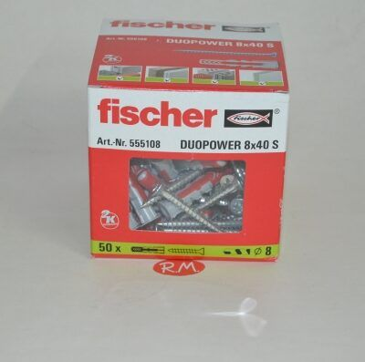 Fischer caja 100 tacos duopower 8 x 40 + tirafondo