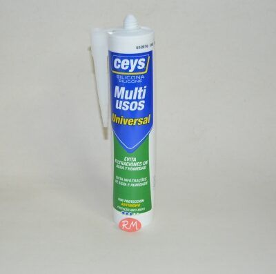 Ceys silicona ácida universal aluminio 280ml 506248
