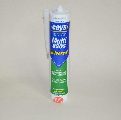 Ceys silicona ácida universal negra 280ml 506247