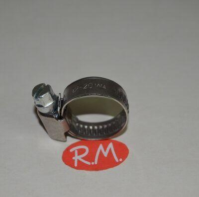Abrazadera sin fin 12 - 20 mm INOX