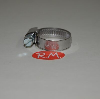 Abrazadera sin fin 16 - 25 mm INOX
