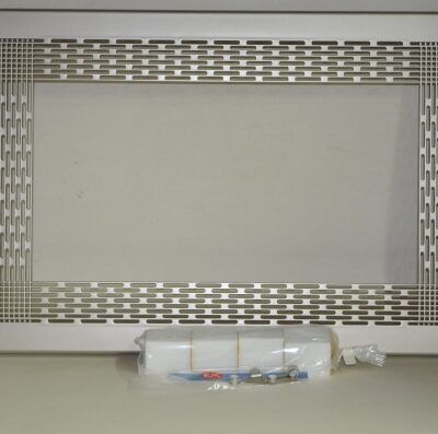 Marco para microondas universal 60 x 40 cm níquel satinado