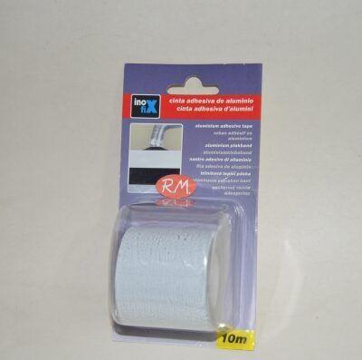 Cinta aluminio adhesiva blanca 10 metros 50 mm