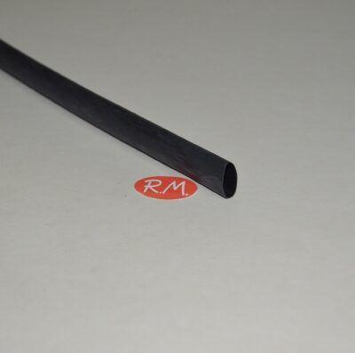 Tubo termoretractil negro Ø12,7 x 1220 mm