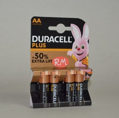 Pila Alcalina Duracell LR06 AA (blister de 4)