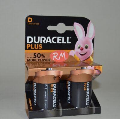 Pila Alcalina Duracell LR20 D (blister de 2)