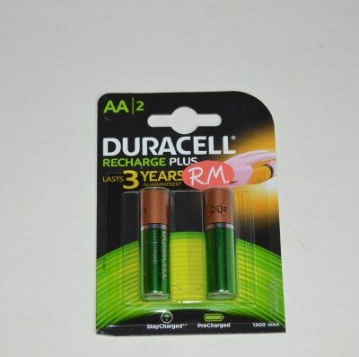 Pila recargable Duracell LR06 AA (blister de 2)