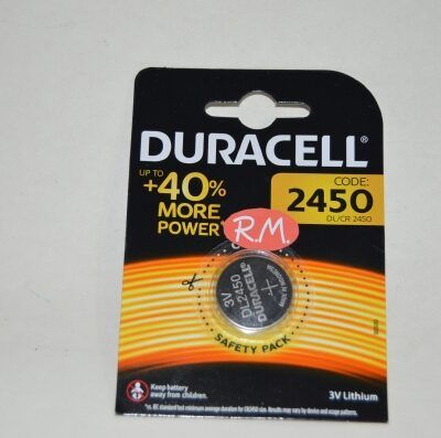 Pila de botón litio Duracell CR2450 24 x 5 mm 3 V