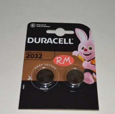 Pila de botón litio Duracell CR2032 20 x 3.2 mm 3 V