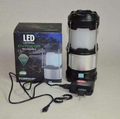 Linterna led camping recargable 250 lumens