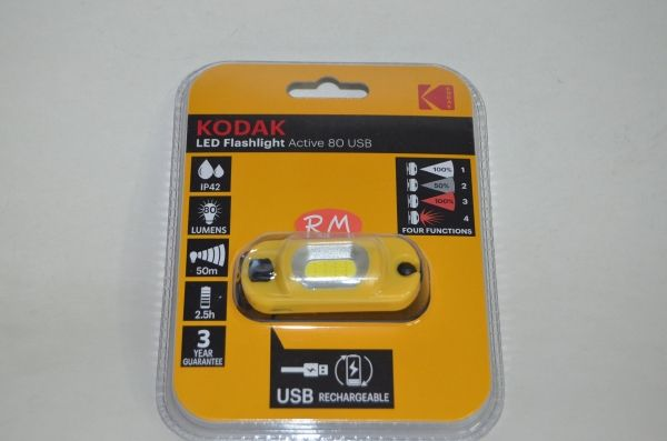 Linterna frontal recargable led Kodak 80 Lm