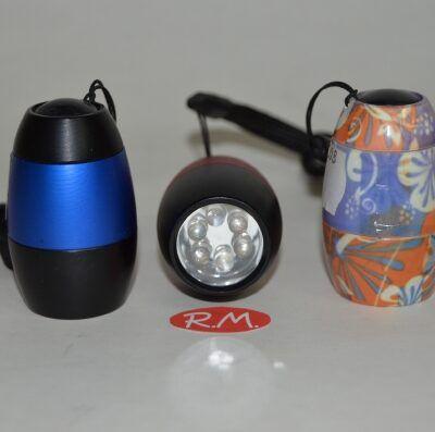 Linterna led huevo aluminio colores surtidos