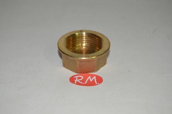 Tapón ciego latón rosca H 7/8 contador de gas
