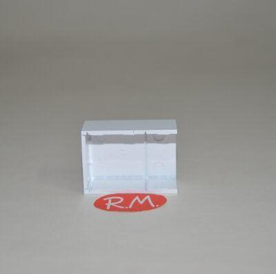 Multiunión minicanaleta para cables 10 x 20 mm blanco