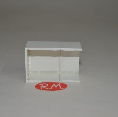 Multiunión minicanaleta para cables 16 x 25 mm blanco