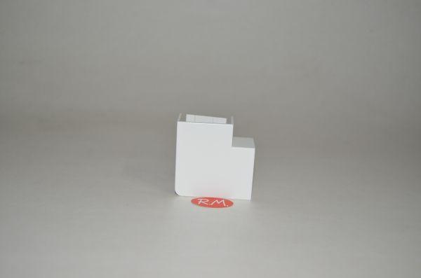 Angulo plano canaleta Unex 20 x 30 mm marfil